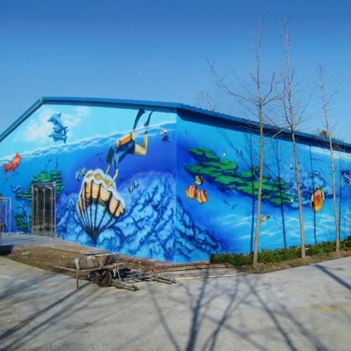 青岛海洋馆壁画