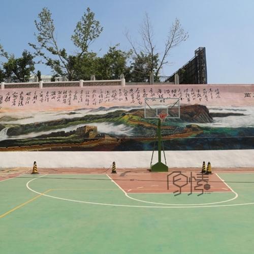 大连交运集团挡土墙壁画