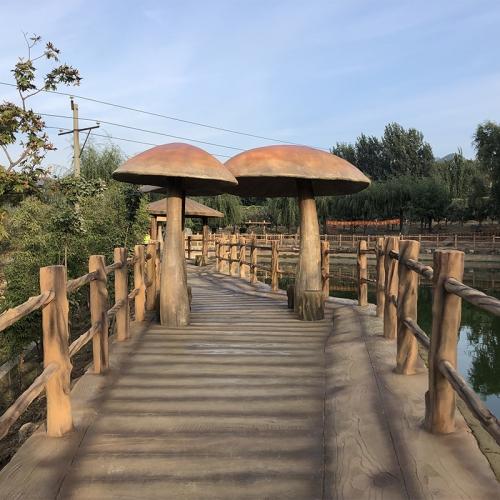 鞍山生态园改造-仿木